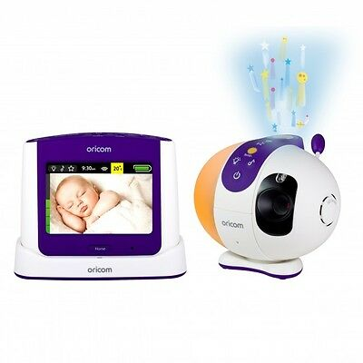 """Oricom Secure 870 Sc870 2.4Ghz 3.5"""" Video Monitor With Starry Lightshow"""