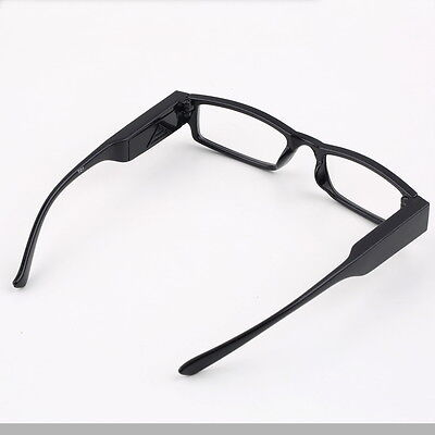 Practical LED Reading Eyeglasses Spectacle Diopter Magnifier Multi Light Up L#