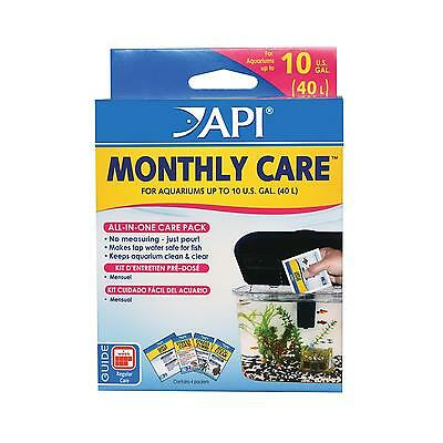 Api Monthly Care Kit Aquarium All In One Tap Water Conditioner Healthy Fish Tank