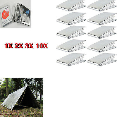 2/5/10pcs  Emergency Blanket Survival Rescue Outdoor Portable Life-saving Tent