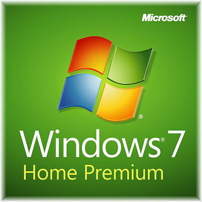 Microsoft Windows 7 Genuine Home Premium 32bit x86 & 64bit x64 COA License Key
