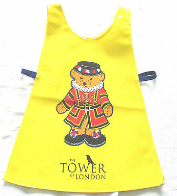Childs Tabard / Vest apron, wipe clean, 3-5 yrs, Tower of London Beefeater Bear