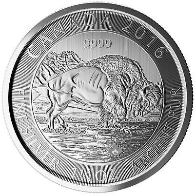 2016 Canadian Bison 1.25 oz .9999 Silver Very Limited Bullion Round BU Coin