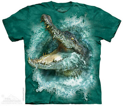 Crocodile Splash Kids T-Shirt from The Mountain. Big Face Child Sizes NEW