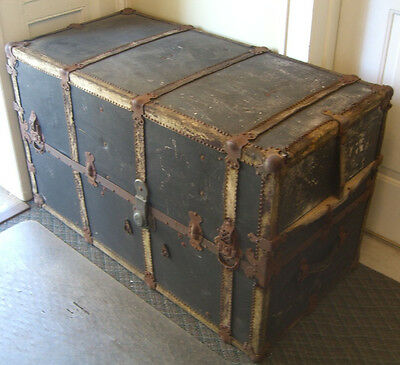 Mendel & Co. Wardrobe Steamer Trunk, Yale Lock & drawers c. 1900 • £370.10
