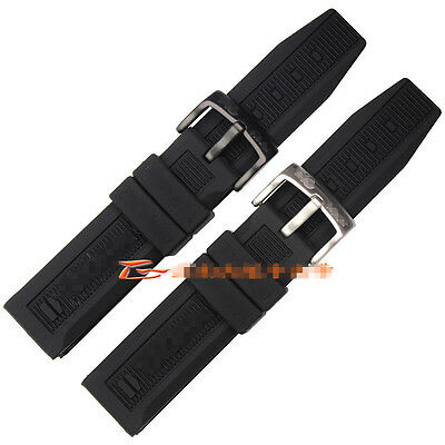 20mm black rubber sweatproof diver watch strap silicone band for TAG Heuer