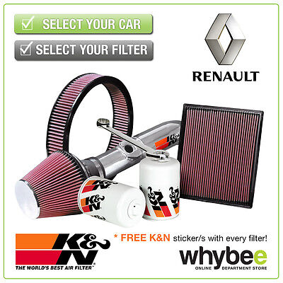 RENAULT Clio MK2 All K&N KN Performance Filters inc Air, Oil & Intake Kits - New