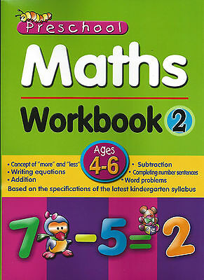 Pre School Activity Books Maths Workbook 2 early year numbers counting solving