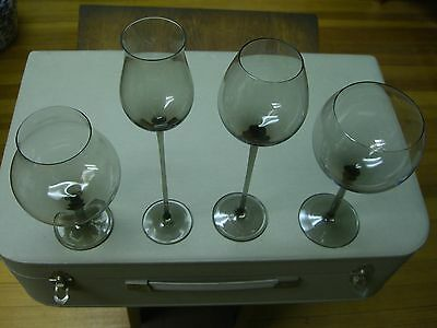 Moser Glass Club Physiognomical Tasting Snifters Collectibles Barware(2 missing)