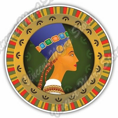 Nefertiti Egyptian Queen Pharaoh Wife Egypt Car Bumper Vinyl Sticker Decal 4.6""