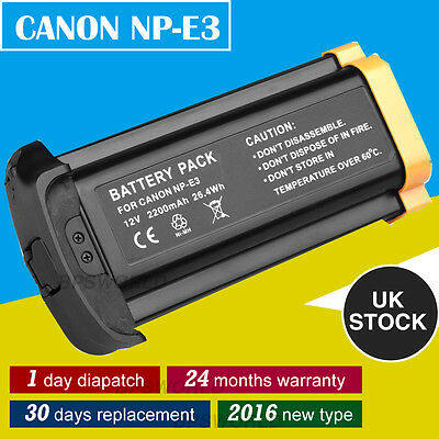 2016 Updated chip Battery for Canon NP-E3 EOS 1D1D Mark II /N 1Ds Mark II UK