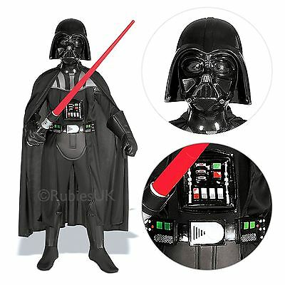 Deluxe Child Darth Vader Outfit Fancy Dress Costume Star Wars Kids Boys New Sith
