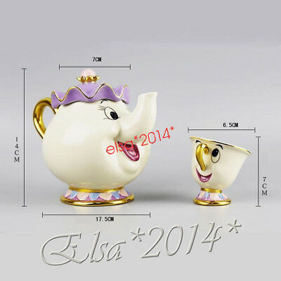 Beauty And The Beast Teapot Mug Mrs.Potts Chip Tea Pot Ceramics Cup