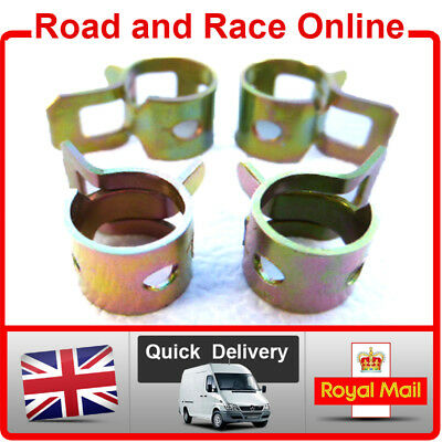 6mm I/D Petrol Pipe Fuel Pipe / Breather Overflow Pipe Clips Pack Of 4 Universal