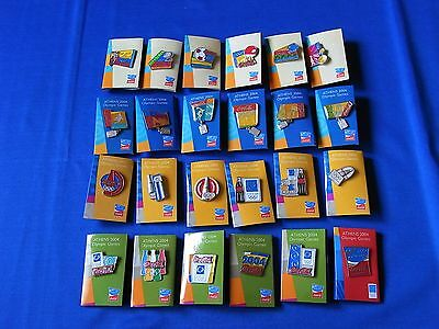 2004 ATHENS olympics coca cola pin full 24 compete set Japan