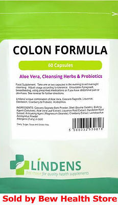 Colon Cleanse tablets (60) - Aloe vera & Probiotics, weight loss - Lindens