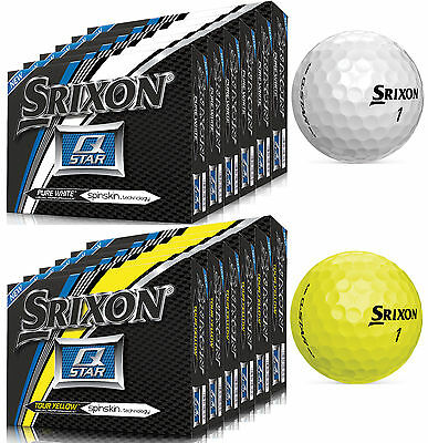 Srixon Q-Star 6 Dozen Golf Balls Choose White Or Yellow 2015-2016 Newest Model