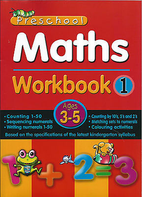 Pre School Activity Books Maths Workbook 1 early year numbers counting solving