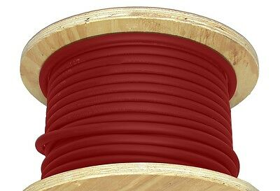 100' 3/0 AWG Welding Cable Red Flexible Outdoor Wire Durable New