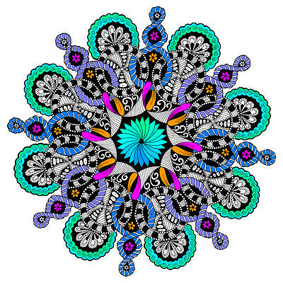 Figure Eight Mandala Large 22x22 Inch Coloring Poster
