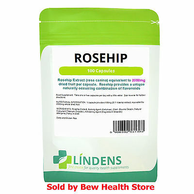 Rosehip Capsules 2000mg (100) - Help with Arthritis, Anti-inflammator - Lindens