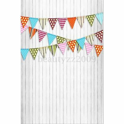 1.5M Wooden Wall Floor Flags Photography Backdrop Background Studio Photo Prop