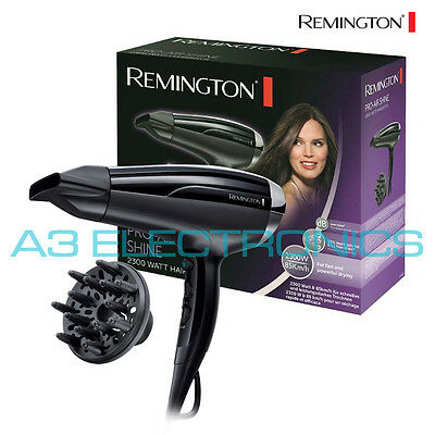 Remington D5215 Black Ceramic 2300W Ionic Pro-Air Shine Hair Dryer with Diffuser