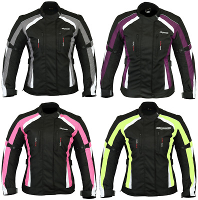 RKSports 737 LADIES TEXTILE WATERPROOF MOTORBIKE MOTORCYCLE JACKET CE ARMOUR