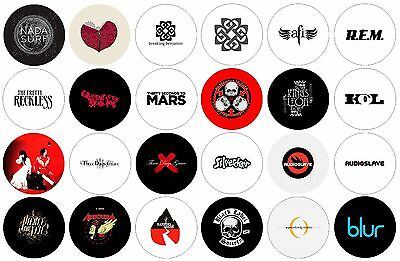 "Alternative Punk Rock Band Logo 1"" Pinback Pins Button Blur Audioslave KOL AFI"