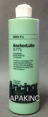 New Anchorlube G-771 16 Oz. Squeeze Bottle Anchor Lube Metalworking Lubricant
