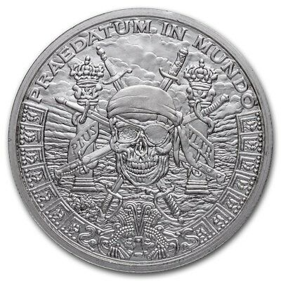 Silver Shield Pieces Of Eight A Predatory World 1 oz .999 Silver BU USA Round