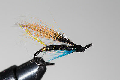 Salmon Fly,Hairy Mary , Double Hook. (3-pack) Pick a size. Fly Fishing Fly
