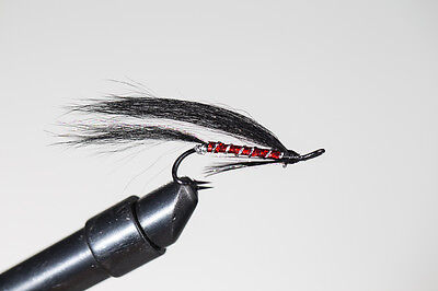 Salmon Fly,Black Brahan , Double Hook. (3-pack) Pick a size. Fly Fishing Fly