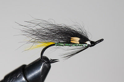 Salmon Fly,Green Brahan , Double Hook. (3-pack) Pick a size. Fly Fishing Fly