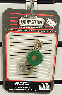 Genuine Grayston Quick Fit Battery Cut Off Switch - GE757