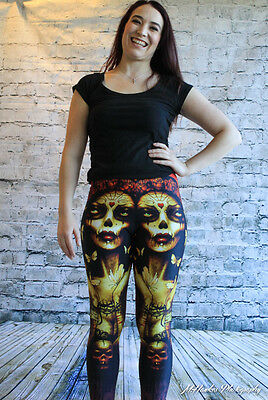 Too Fast Lexy Legging Bound Gothic Punk Rockabilly Pants Goth