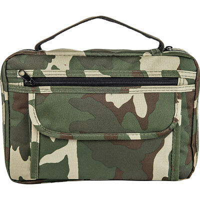 Bible Cover Camo Green Camoflage Protective Holy Book Tote Carry Case Bag