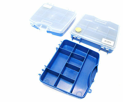 8 Compartment Small / Mini Organiser / Storage / Toolbox (Set Of 3) New TB089