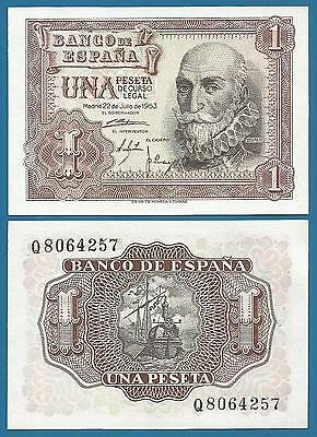 Spain 1 Peseta P 144 a 1953 UNC Low Shipping! Combine FREE! (P-144a)