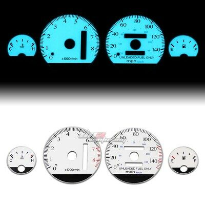 White Indiglo Glow Gauge El Dashboard Cluster For 94-01 Integra Gs/rs/ls At Auto