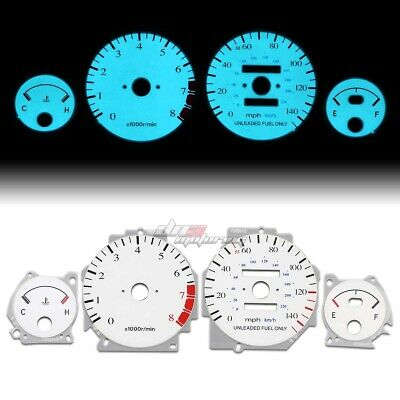 White Indiglo Glow Gauge El Dashboard Cluster For 90-93 Integra Gs/rs/ls At Auto