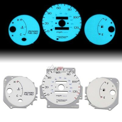 White Indiglo Glow Gauge El Dashboard Cluster For 96-00 Civic Lx/dx/cx/hx Ej Mt