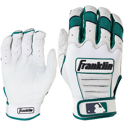 Franklin Robinson Cano CFX Pro Adult Baseball Batting Gloves - Pearl/Teal - XXL
