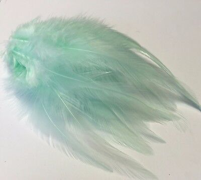 20 Mint Green Rooster Feathers 9-15cm DIY Art Craft Millinery Dream Catcher