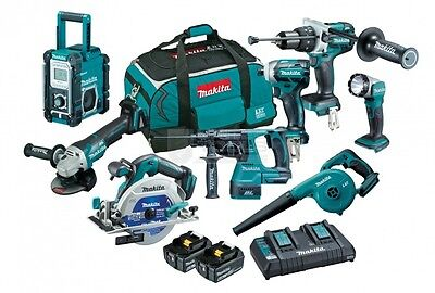 Makita 18V 6.0Ah Li-Ion Brushless Cordless 8pce Combo Kit latest model AUS STOCK