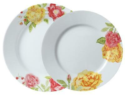 1 CORELLE Boutique EMMA JANE Choose: DINNER or LUNCH PLATE Red Pink Yellow Roses