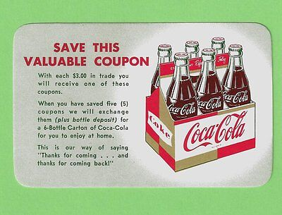 "Coca-Cola Gold And Red USA 1950er ""Save This Valuable Coupon"" Six Pack Coke"