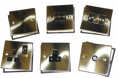 Victorian Antique Brass switches and sockets decorative accessories Click deco *