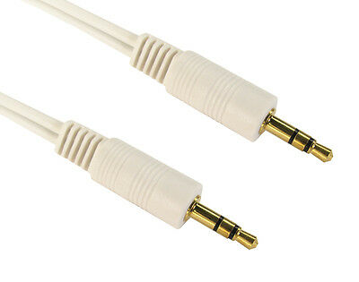 3.5mm Mini STEREO Jack to Jack Aux Cable Audio Auxiliary Lead PC Car GOLD 1m 2m