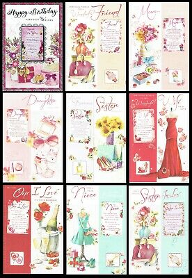 QUALITY ~ BIRTHDAY CARD ~ FEMALE ~ VARIOUS TITLES ~ with FAB VERSES and KEEPSAKE